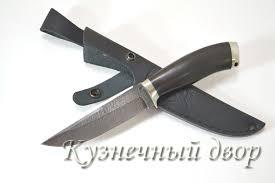 """<b>Нож</b> """"<b>Койот</b>"""" <b>сталь</b>- <b>дамаск</b>, рукоять- мельхиор, черный граб."""