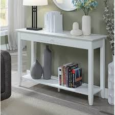 White sofa table Slim Greenspan Console Table Wayfair Off White Sofa Table Wayfair