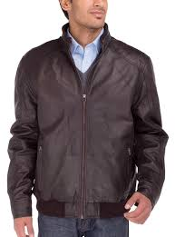 mens lambskin leather vintage washed mot image1