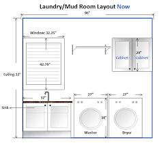 Laundry Room Layout Idea, reversed, drying rack over dryer instead. No  window but mirror cabinet.