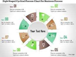 Business Diagram Eight Staged Cyclical Process Chart For