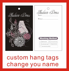 Design Your Own Clothes Template Garment Hang Tags Custom Print Hang Tags Price Label Flower And Girl Design Template 025