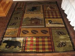 lodge cabin rustic moosebearduckpineoak area rug 5393 rustic cabin area rugs