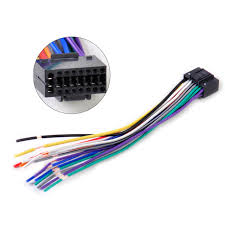 16pin car radio stereo wire harness install plug cable connector fit car stereo wiring harness car radio stereo wire harness cd plug cable 16 pin connector fit for kenwood