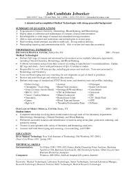 Example Of Resume For Medical Laboratory Technologist Best Of Sample Resume Of Medical Laboratory Technician Best Resume Sample