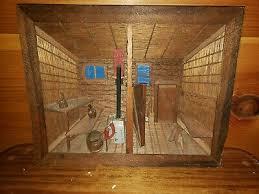 rustic cabin 3d interior scene wooden