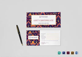 simple gift certificate template to print