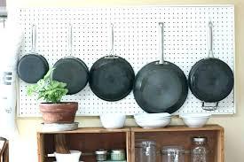 hang pots and pans on wall hanging pot pan rack kitchen diy