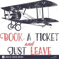 vine airplane typography poster lettering and old biplane symbol for printing vector inspiration tee design retro t shirt print design with