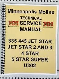 335 minneapolis moline tractor technical service shop manual image is loading 335 minneapolis moline tractor technical service shop manual