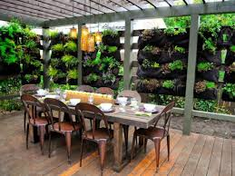 covered outdoor dining area