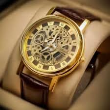 men transparent watches buy men transparent watches online in mens transparent golden dial analog leather belt watch