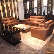 Model A139 Traditional Leather Section Boss Office Sofa set