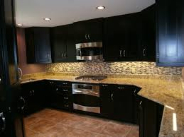 Backsplash For Dark Cabinets Kitchen Backsplash Ideas For Dark Cabinets Home And Art