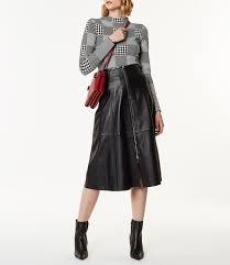 karen millen midi leather skirt black 2