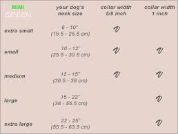 Greendog Size Chart Mimi Green Dog Collars And Leads Medianoche Collar Leash