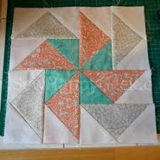 Flying Geese Quilt Pattern Impressive Flying Geese Pinwheel Block Pattern FaveQuilts