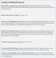 Sample Funding Proposal Template | Nfcnbarroom.com