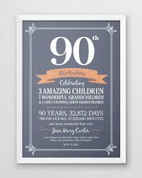personalized 90th birthday seventy years old gift