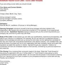 24 Cover Letter Template For Substitute Teacher Resume Samples