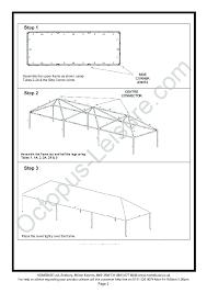 gazebo instructions 3x9