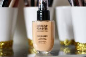 make up for ever face body foundation in 32 review and swatch