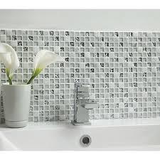 mosaic bathroom tiles. Wickes Ice Glass \u0026 Stone Mosaic - 300 X 300mm Bathroom Tiles