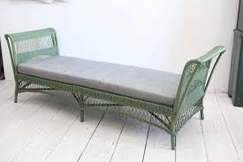 wicker day bed. Fine Day Large Open Daybed In Original Green Paint Newly Upholstered Reverse  Denim Suitable For For Wicker Day Bed D