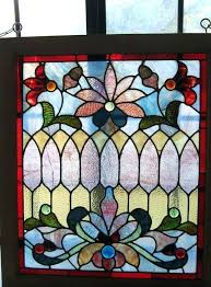 framed stained glass window panels large size of picture hanging leaded clear rippled frame antique st