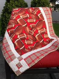 37 best Handmade Quilts for Sale images on Pinterest | Boy quilts ... & Handmade quilts for sale, boy's quilt, football, sports bedroom, baby quilt… Adamdwight.com