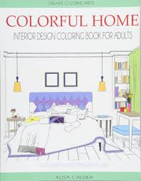 Home Design Books Buy Colorful Home Interior Design Coloring Book For Adults