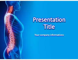 Medical Power Point Backgrounds Spinal Cord Medical Power Point Template