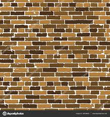 seamless texture of brown realistic old brick wall with shadows stock photo