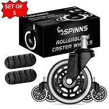 rollerblade heavy duty office chair caster wheels 3 inch set of 5 smooth quiet