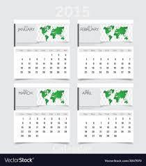 Simple 2015 Calendar Simple 2015 Year Calendar January February March Vector Image