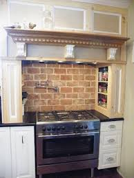 Brick Backsplash Kitchen Kitchen Design Faux Brick Backsplash In Kitchen About Rustic