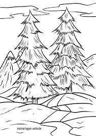 Lustige und realistische ausmalbilder von tieren. Malvorlage Winterwald Winter Kostenlose Ausmalbilder
