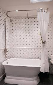 traditional shower curtain rail terrific curtain tie backs traditional bathroom in with tile chair rail and