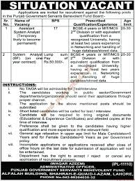 Assistant System Analyst And System Analyst Jobs - Nawaiwaqt Jobs ...