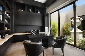black color furniture office counter design. modern office counter with solid color single panel curtains home contemporary and builtin black furniture design t
