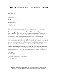 Follow Up Letter For Job Interview Status Cover Letter