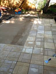 how to lay pavers over concrete medium size of over concrete to dirt how to laying how to lay pavers over concrete