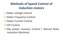 methods of sd control of induction motors n