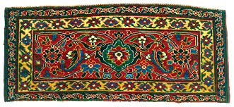west persian herati design knotted pile mafrash panel 19th century paquin collection