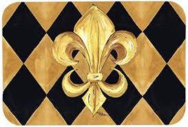 ine s treasures 8125 jcmt black gold fleur de lis new