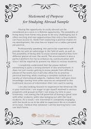 statement of purpose for studying abroad sample by sopsamples