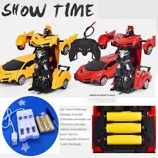 <b>Electric RC</b> Car Robot Toy <b>Remote Control Deformation</b> Car <b>RC</b> ...