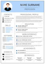Modern Resume Infographics Modern Cv Layout With Infographic Resume Template For Man Minimalistic