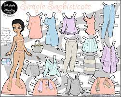 Pinterest is a great place to. Simple Sophisticate Printable Paper Doll In Color Paper Thin Personas