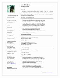 Accountant Resume Format Pdf New Resume Format For Marriage Free